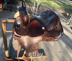 VTG 14 Circle Y Brown Leather Professional Show Horse West Dark Brown