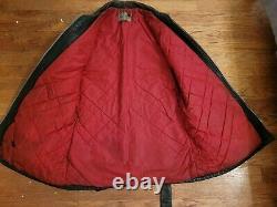 VTG 1940s Hercules Sears Brown Leather Half Motorcycle Jacket Horse Hide PERFECT