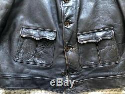 VTG 30s Handmade Cossack Biker Lederjacke Menlo Leather Jacket Vintage Horsehide