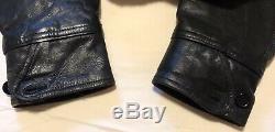 VTG 40s Duroval Genuine Fore Quarter Horse Hide Leather Shaw Collar Car Jacket L