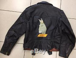 VTG 50s CALIFORNIAN Hand Painted Horse Leather Motorcycle Hide Jacket 38 S/M USA