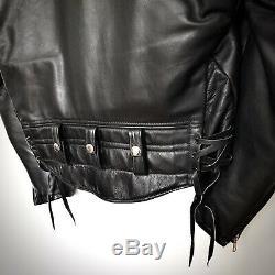 VTG CHP BHKW Horsehide Motorradjacke Lederjacke Bluf Leather Jacket Perfecto 54