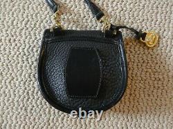 VTG Dooney & Bourke Black AWL Cavalry Crossbody/Belt Bag Convertible, RARE
