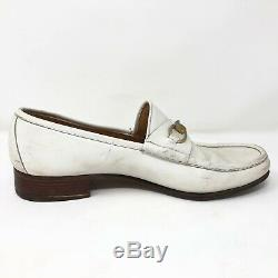 VTG Gucci Mens White Horse Bit Loafers Size 13 US EU 47 Made in Italy SEE VIDEO