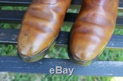 VTG MAYFAIR Leather Cavalry Riding Officer Boots Dehner Size 10C Cosplay Jedi