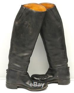 VTG Saddler Custom Riding Boot 7 Equestrian Dressage Pull On Black Leather Horse