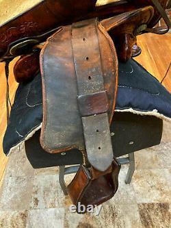 Vintage 14 Leddy Bros. So-fa-ride Western Pleasure/ Trail Saddle