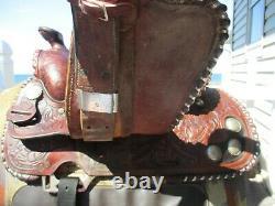 Vintage 15'' 101 American Saddlery Circle A Roper Western Saddle