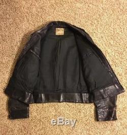 Vintage 1940 Pony Horse Hide Leather Jacket Police