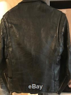 Vintage 1950s-60s Guide Master by Wolf Horse Hide Leather Motorcycle Jacket Sz L