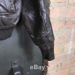 Vintage 1950s Sears Hercules Horse Hide Leather Bomber Jacket Mens 40
