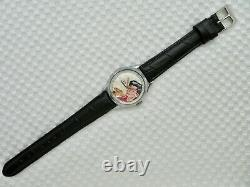 Vintage 1951 Swiss Made Lil Abner Moving Horse Head Character Wristwatch