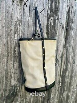 Vintage 1960's Enid Collins Champion Quarter Horse Canvas/Leather Bucket Bag