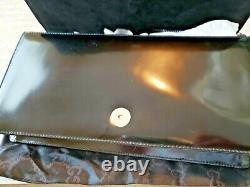 Vintage 1990 Gucci Black Patent Leather Horse Bit Handbag