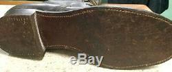 Vintage 30-40's Bone Dry 45 Mens HORSE Hide Lace Up Below Knee Logger Boots