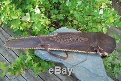 Vintage 40's-50's Eubanks Rifle Case Scabbard Leather Boise Idaho. Horse Hunting