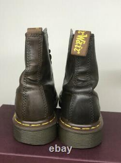 Vintage 90s Brown 8-eye 1460 Crazy Horse mie dr Doc martens boots Size Uk 6.5