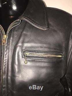Vintage Aero 1980's horse hide leather jacket large-XL 46