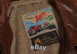 Vintage Aero Leather Co Pferdeleder Front Quarter Horsehide Made Scotland Motor