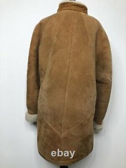 Vintage Antartex Shearling Sheepskin Jacket Women Small Pure Wool Scotland Coat