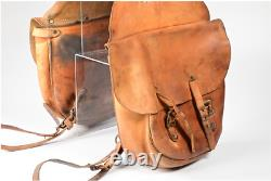 Vintage Antique Horse Saddlebags Motorcycle leather saddle bags classic old