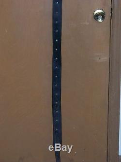 Vintage Antique Primitive Sleigh 30 Bell string leather strap 76 horse tack 6'4