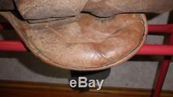 Vintage/Antique Tan Leather Pony Pad Saddle 15