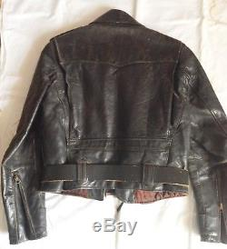 Vintage BUCO Motorcycle Jacket, Horse Hide with inner Quilting, Sz 18