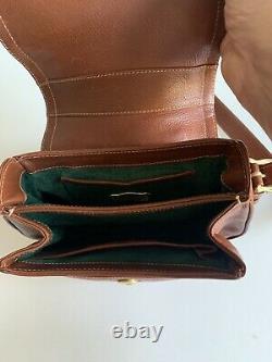 Vintage Barry Kieselstein-Cord Brown Leather Shoulder Handbag Horse Hardware