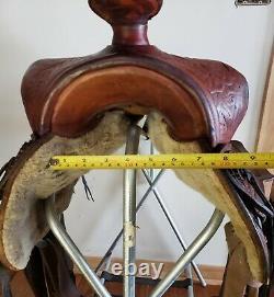 Vintage Big Horn Saddle 14 Seat, 6.5 Gullet