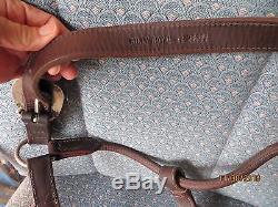 Vintage Billy Royal Sterling Fleming Silver Show Halter Horse Leather