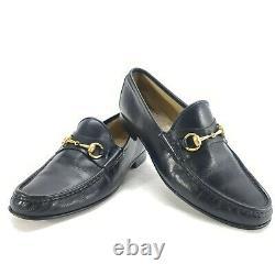 Vintage Black GUCCI HORSE BIT LOAFER Shoes Size US Mens 9 D