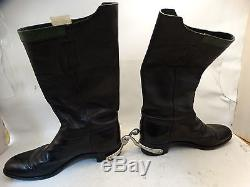 Vintage Black Leather Canada Military 1976 Horse Riding Boots with spurs