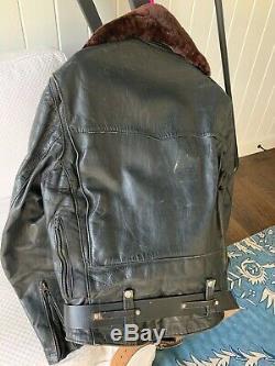Vintage Bucos Horse Hide Leather Jacket 1960s
