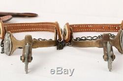 Vintage Buermann Hercules Western Cowboy Leather Brass Horse Head Spurs
