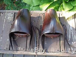 Vintage Butter Soft Leather Western Saddle Stirrups w TAPADEROS Ranch Horse