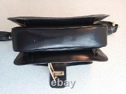 Vintage CELINE Black Leather Horse Carriage Buckle Purse