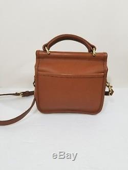 Vintage COACH Winnie Flap Mini Willis British Tan Brown Crossbody Bag 9023 EUC
