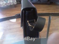 Vintage Celine Horse Carriage Buckle Black Box Leather Shoulder Bag