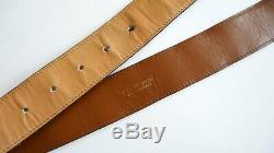Vintage Celine belt leather carriage Paris vintage brown belt gold buckle horse