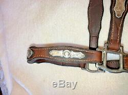 Vintage Champion Turf Sterling Silver Leather Horse Show Halter withLead
