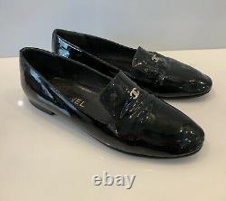 Vintage Chanel Ballet Shoes CC Logo Patent Leather Size 37