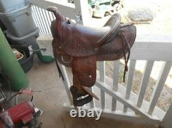 Vintage Coin Operated Mechanical Horse Leather Pony Saddle