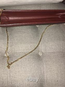 Vintage Comtesse Clutch Hand Gold Crossbody Chain Bordeaux Horse Hair Germany