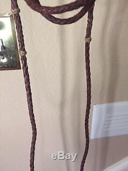 Vintage Cowboy Western Leather Braided Bridle, Reins & Horse BIt