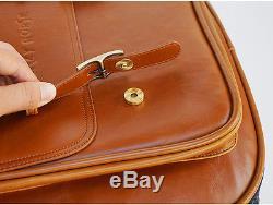 Vintage Crazy Horse Acoustic Electric Guitar Bass bag Soft case Leather Gig bag
