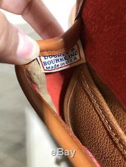 Vintage DOONEY & BOURKE Cavalry Body Belt Bag Red Crossbody Leather USA