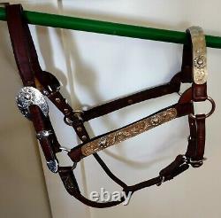 Vintage Dale Chavez Show Halter- Horse Size, Adjustable, Good Condition