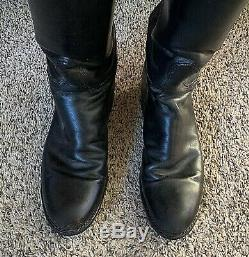 Vintage Dehner's Omaha Horse Riding Patrol Boots, Black 81756 Sz 6.5 7
