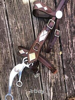 Vintage Diamond Parade Horse Bridle like Gene and Roy plus Noseband & Silver Bit